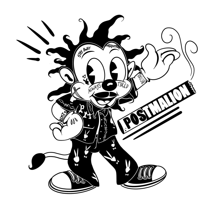 Black And White Vintage Cartoon Character Or Logo By Ecmojo