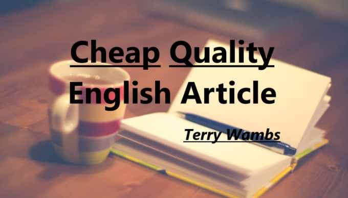 write a catchy english article