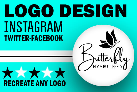 do professional instagram, twitter or facebook logo design