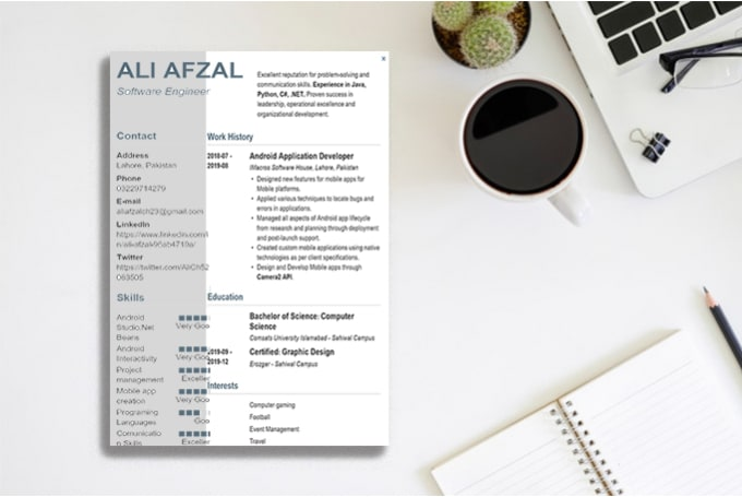 edit  design your custom resume cv by ali afzal1