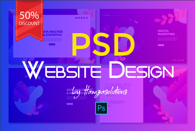 Do Photoshop Web Template Psd Website Or Website Mockup By