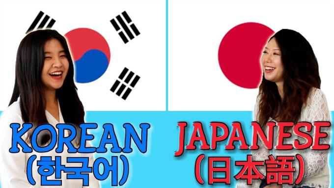 manually translate english into japanese or korean
