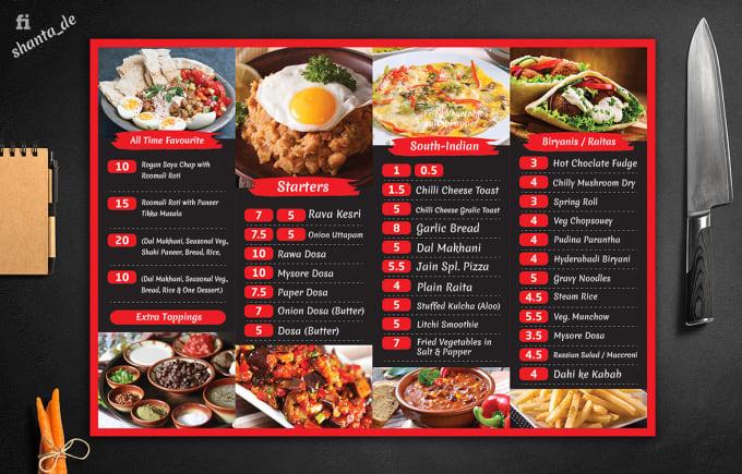 Design restaurant menu, food menu, digital menu screen ...