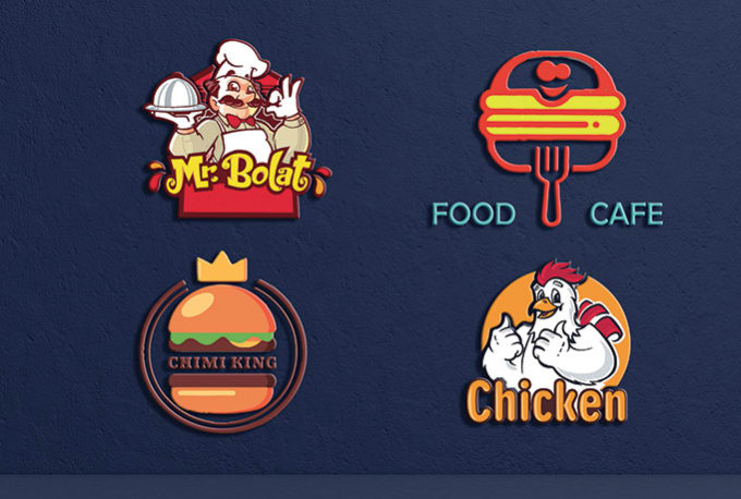Design Creative Restaurant Cafe Fast Food Logo By Sanaullahujjal