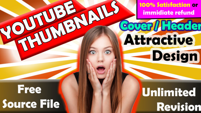 Design Best Amazing Youtube Thumbnails Channel Art And Facebook Banner By Misterabd