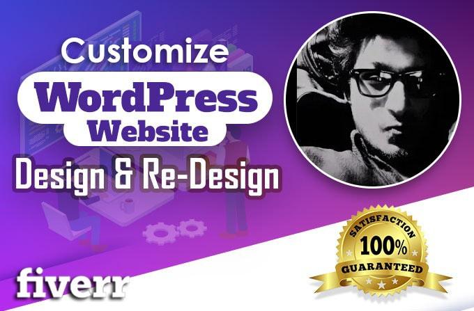 I will customize wordpress design, CSS fix quickly