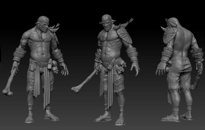 do 3d printing character in zbrush and 3ds max
