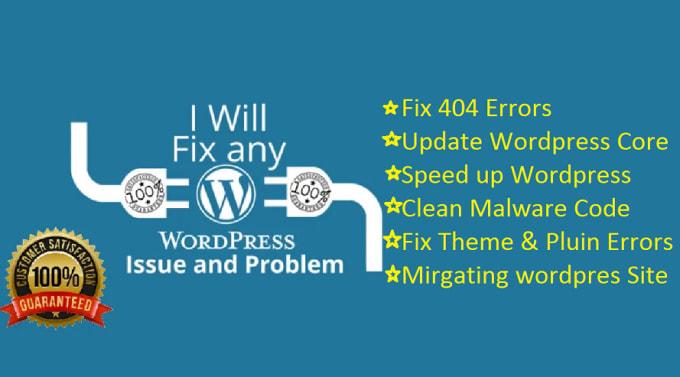 I will fix any wordpress issues or error fast