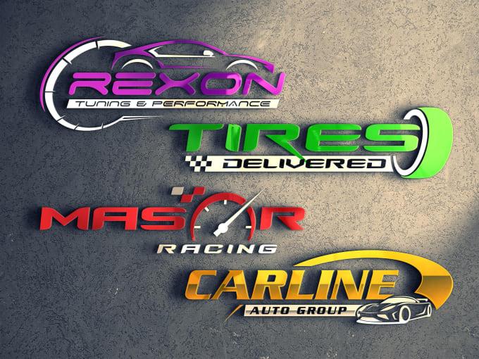 I will design car racing and automotive logo