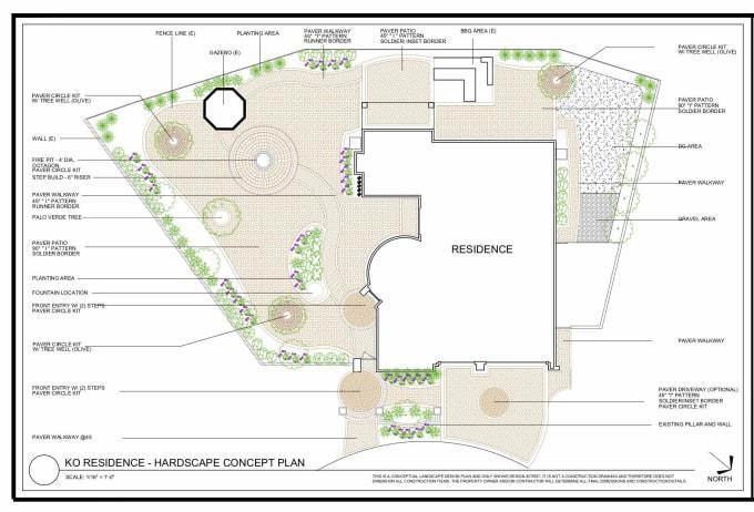Create 2d drawing, site plan, plat map, landscape design ...