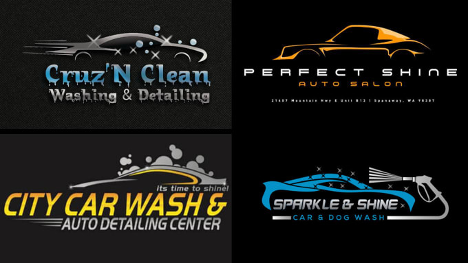 Create Modern Car Wash And Automotive Logo Design By Moobadesigns
