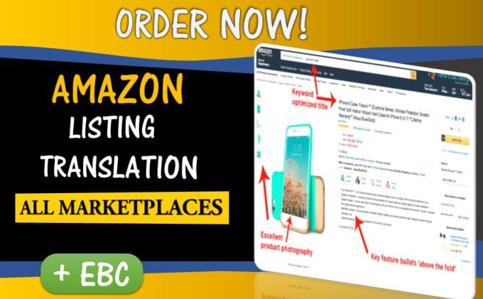 translate your amazon listing into english, french, spanish, italian, german