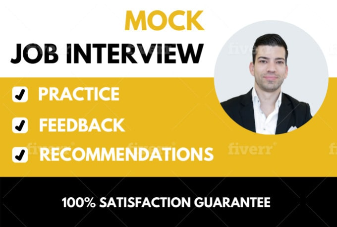 conduct a job or school interview and provide feedback