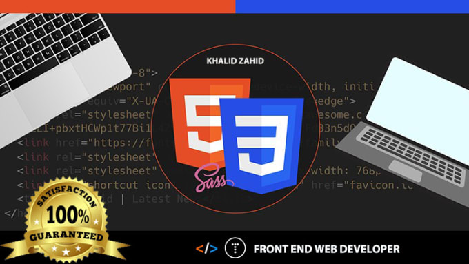Be Your Front End Web Developer And Web Designer By Khalid Zahid