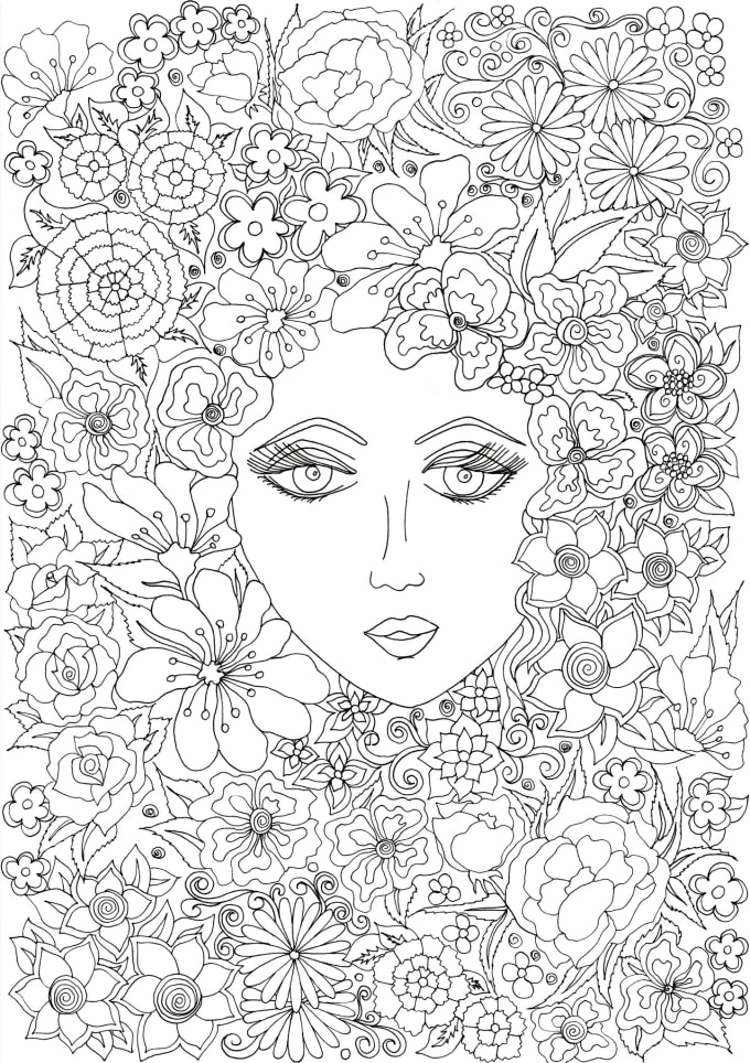 Draw Zen Coloring Page For Grown Ups By Surabhikuthiala