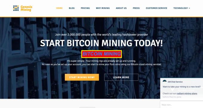 radiant bitcoin mining