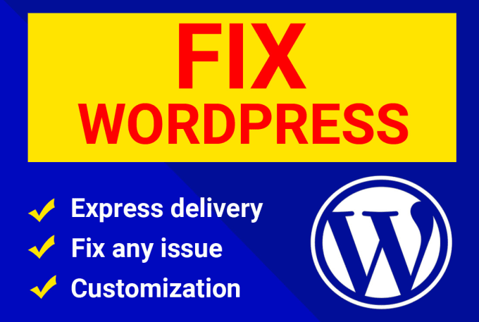 I will fix wordpress issues and errors quickly