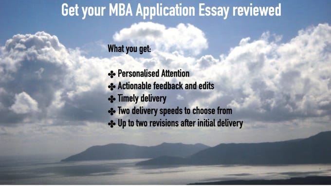 Mba admission essay service review