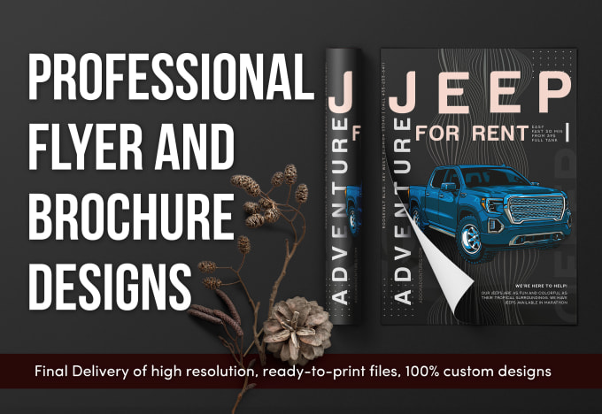 design a professional quality custom flyer