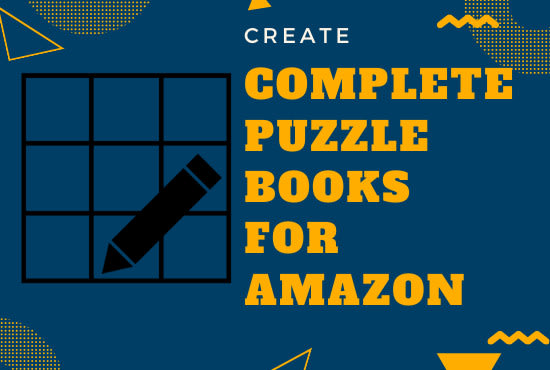 create puzzle books for amazon or personal use