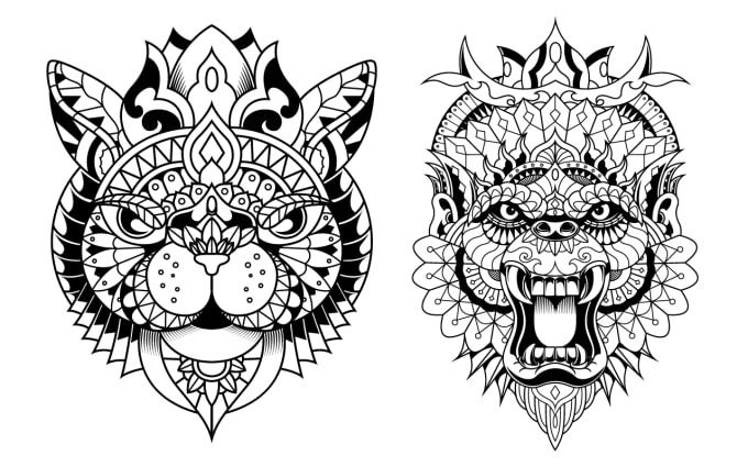 Create Animals Mandala Coloring Book For Adults Kdp By Ahmed_bech Fiverr