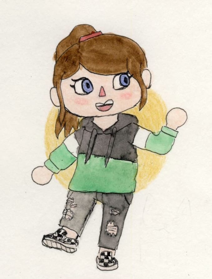 Draw you or your character as an animal crossing human by ...