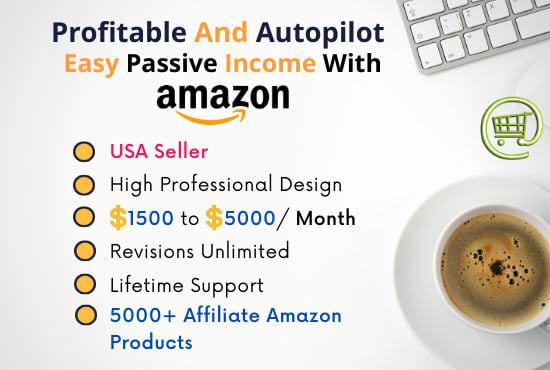 build amazon affiliate autopilot website with 5000 products