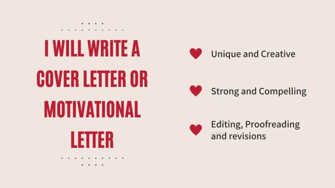 Write A Killer Cover Letter Or Motivational Letter By Salihazz Fiverr