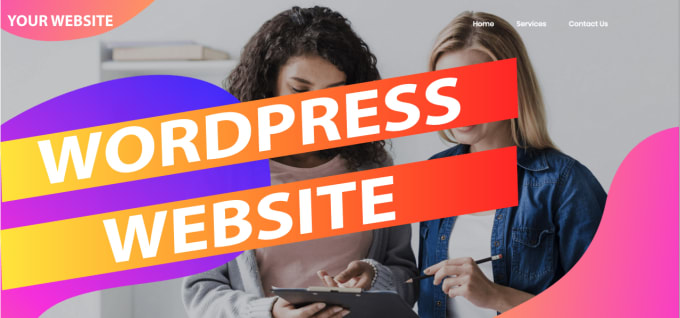 create a basic wordpress website for you