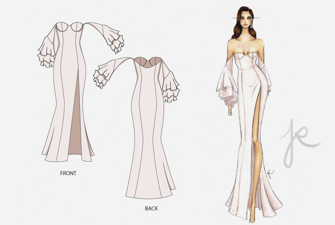 Make Fashion Technical Sketch Flat And Fashion Illustration By Journalbyjr