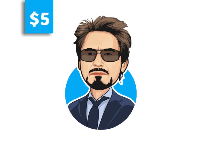 I will draw cartoon caricature headshot avatar from photo