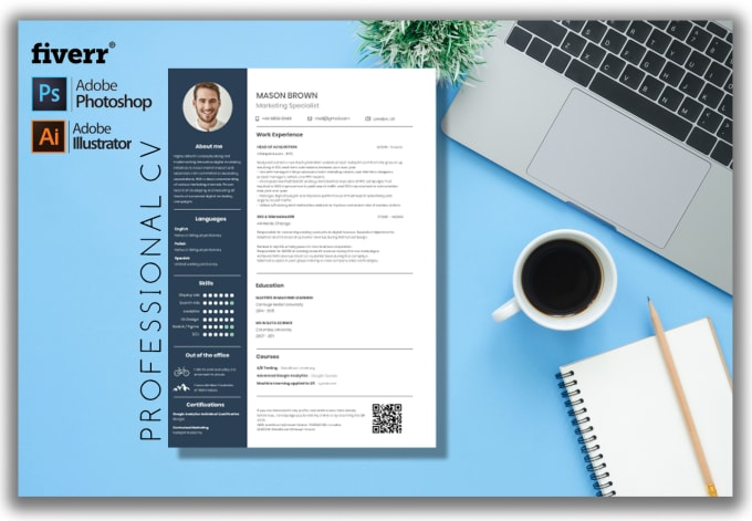 Create Your Professional Background In Resume Or Cv By Essaarts