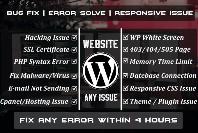I will troubleshoot your wordpress website