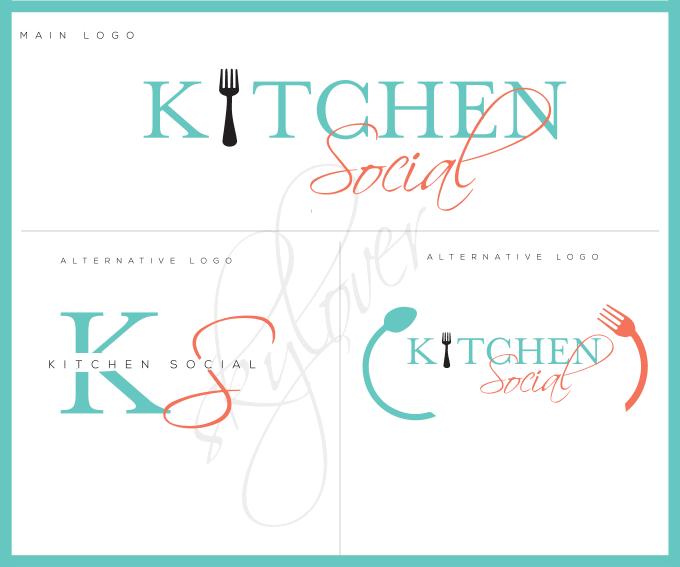 do watercolor kitchen  , signature,feminine logo