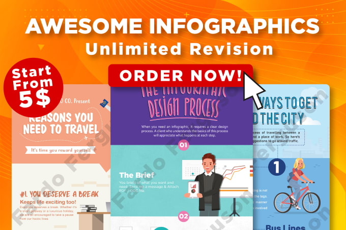 design amazing infographic within 24 hours