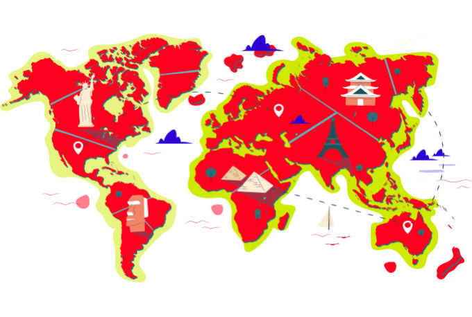 supply create colors vector map