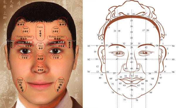 read your face and tell your fortune / personality / luck or destiny from FIVE different features of your face
