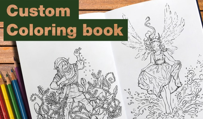 Create A Custom Coloring Book For You By Elenwed Fiverr