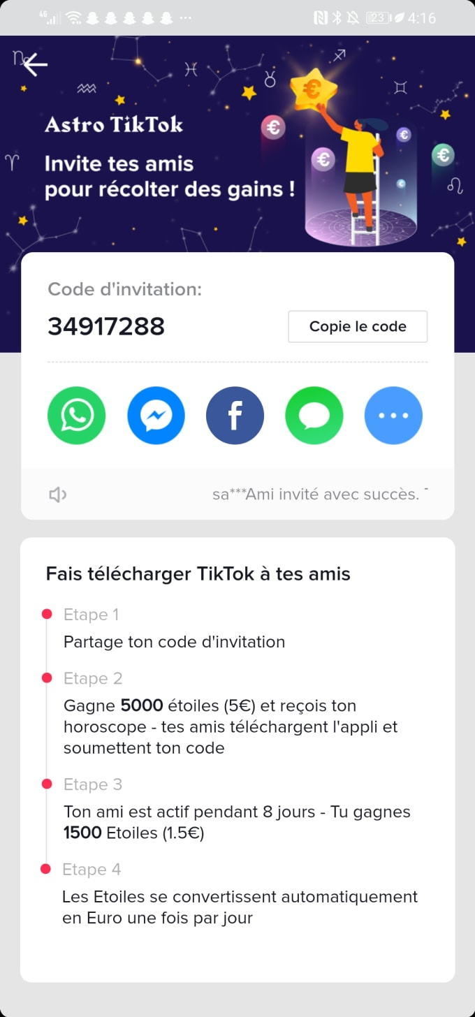 Give You Money If You Enter My Code On Tiktok By Lahou Fiverr