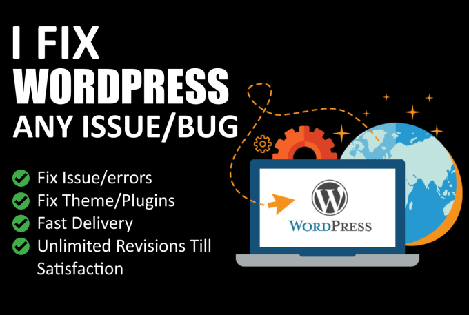 I will fix wordpress issues, woocommerce, elementor, css, seo issue