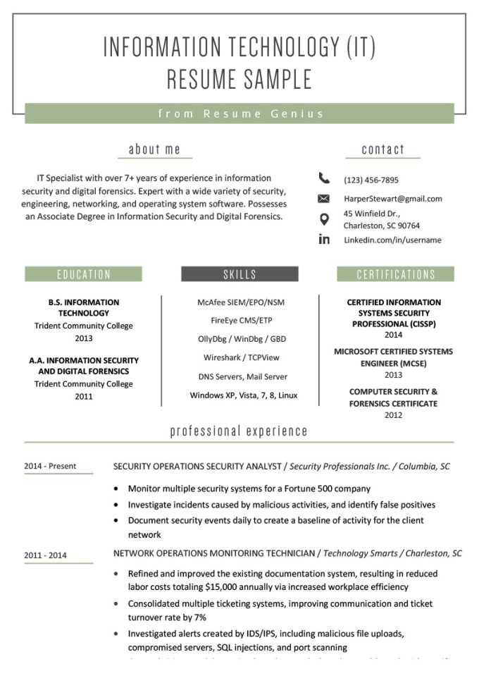 edit or build a professional resume to help you stand out