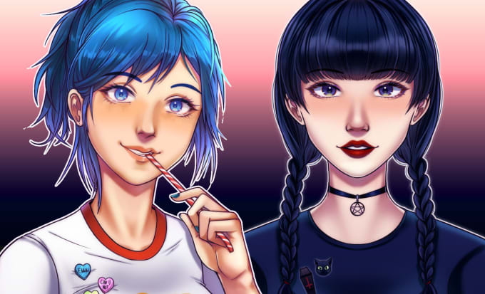 Make You A Semi Realistic Anime Drawing By Moonwhoart