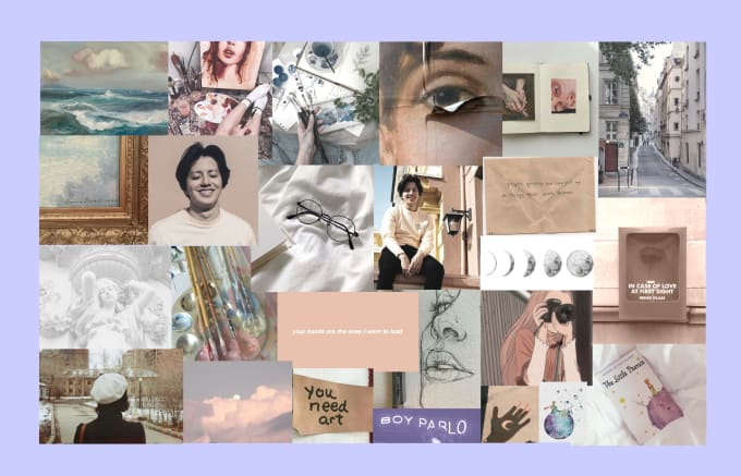 make an aesthetic customized collage desktop wallpaper by