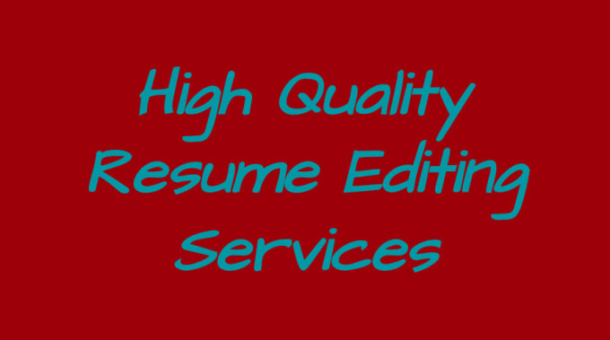 provide high quality resume editing services by projay907