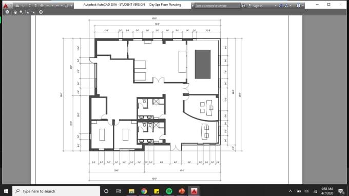 Design An Autocad Floorplan By Karaakubee Fiverr