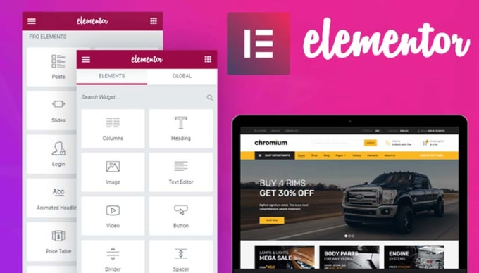 Use elementor pro to design and build your website by Rdowell