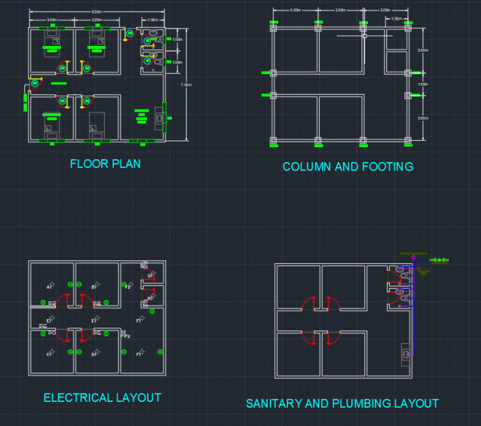 Design Floor Plans Electrical Plumbing Architectural And Structural Plans By Czarlonlactuan Fiverr