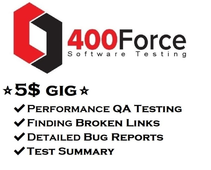 do website QA testing with performance bug reports and find broken links
