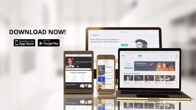 design 3d app explainer video or app promo video for marketing