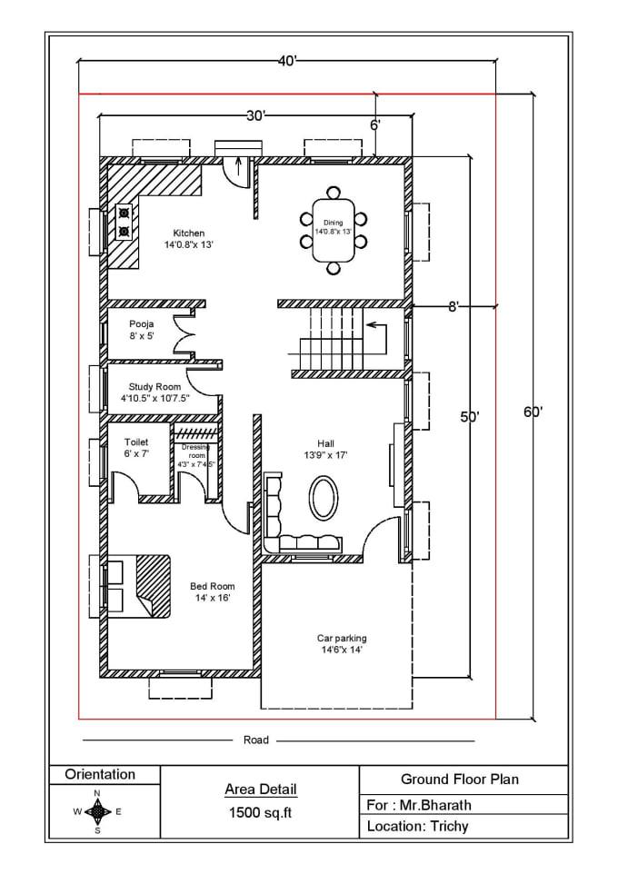 Draw 2d Floor Plan And Elevation Using Autocad By Raja Kumaran N Fiverr